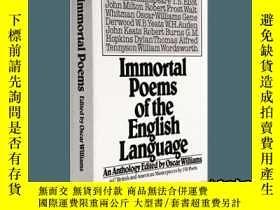 二手書博民逛書店不朽英語詩歌罕見英文原版 Immortal Poems of t
