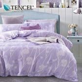 ✰加大 薄床包兩用被四件組✰ 100%純天絲《韵影》