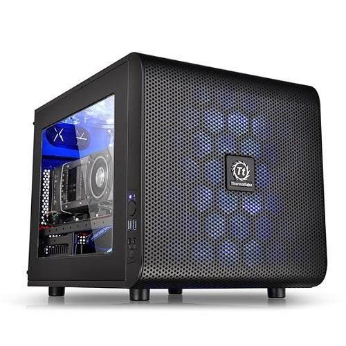 【台中平價鋪】全新 Thermaltake Tt 曜越 Core V21 Micro ATX USB3.0 (黑) 化機殼 (無光碟機)