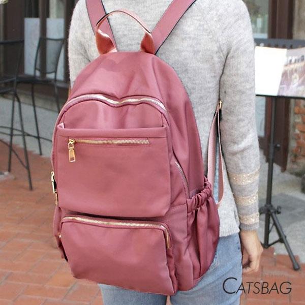 Catsbag|多收納大容量防潑水尼龍後背包|G1674