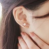 925純銀耳環 珍珠(耳針式)-鑲鑽蝴蝶生日情人節禮物女飾品2色73ag154【巴黎精品】
