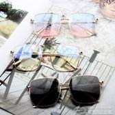 方形太陽鏡大框時尚眼鏡男女潮圓臉墨鏡  居樂坊生活館