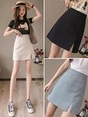 西裝短裙女2021夏季新款a字高腰半身裙不規則修身裙子顯瘦包臀裙 韓國時尚 618