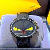 FENDI 芬迪 Momento Bugs小怪獸計時手錶F214611511D1 黑40mm 真鑽