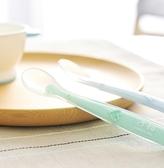 嬰兒矽膠軟勺套裝兒童勺子喂水餵食餐具矽膠輔食新生兒小勺子 歐韓流行館