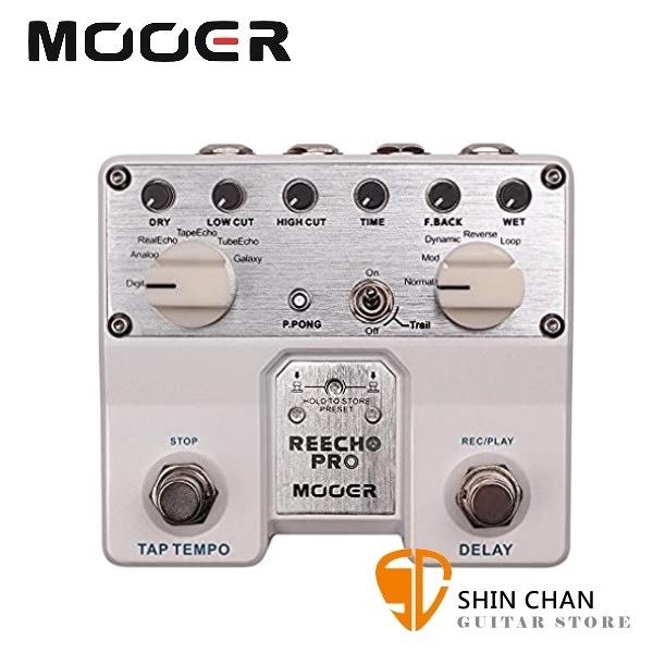 Mooer RC-PRO 數位延遲效果器【ReechoPro/Analog Delay】【原廠公司貨/一年保固】