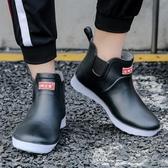 男士短筒雨鞋工作膠鞋防滑防水雨靴【步行者戶外生活館】