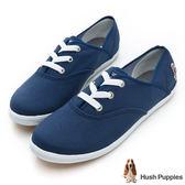 Hush Puppies 熱銷基本款★舒適百搭咖啡紗機能帆布鞋-深藍