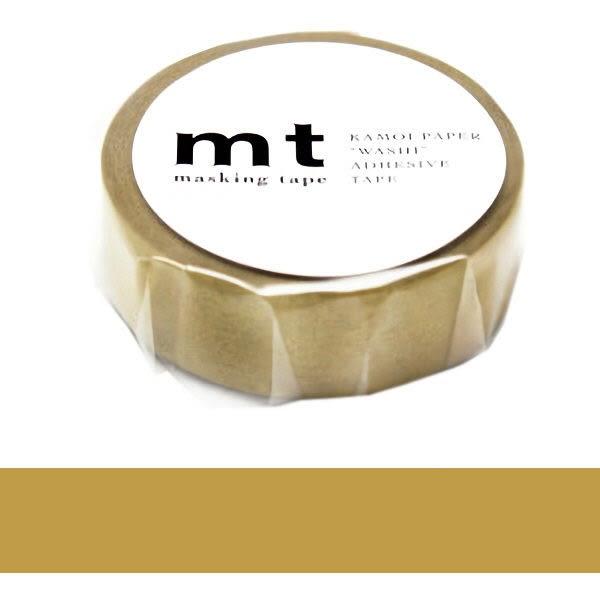 日本mt Masking Tape 和紙膠帶 金色 15mm