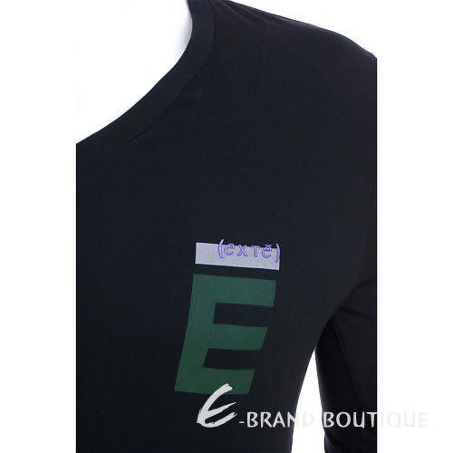 EXTE LOGO V領長袖T恤(黑色) 0830130-01