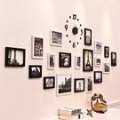 照片牆 歐式創意鐘錶照片牆裝飾 簡約現代客廳組合相框掛牆相片牆相框牆T