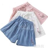 女童短褲 女童牛仔短褲裙薄款新款夏裝洋氣兒童純棉白色中大童女孩裙褲 韓菲兒