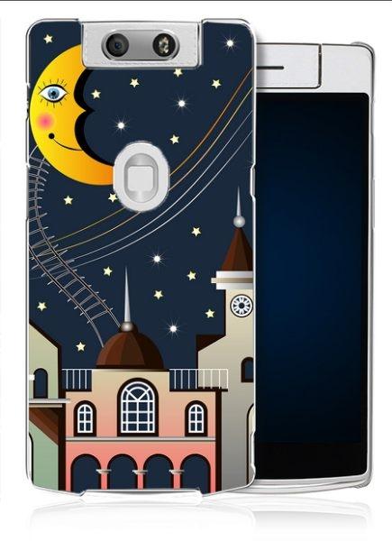 ♥ 俏魔女美人館 ♥【夜晚*輕立體浮雕硬殼】OPPO N3手機殼 手機套 保護套 保護殼