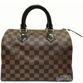 【Louis Vuitton 路易威登】N41365  經典Damier棋盤格SPEEDY 25 手提波士頓包