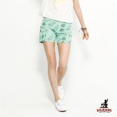 SISJEANS-綠色夏威夷風休閒短褲【1619200107】
