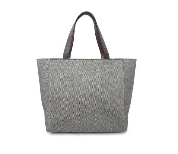 CORRE【LI065】亞麻圓蓋小手提包
