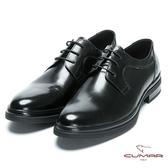 CUMAR 休閒皮鞋底 精選胎牛皮綁帶皮鞋-黑胎牛色