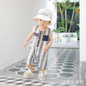夏季新款男寶寶薄款連身衣1-4歲兒童純棉短褲哈衣嬰幼兒爬服  KB4977 【歐爸生活館】