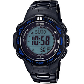 【台南 時代鐘錶 CASIO】卡西歐 ProTrek 宏崑公司貨 PRW-3100YT-1 太陽能電波專業登山錶