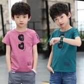 男童短袖T恤 兒童裝男童短袖t恤夏裝2020新款兒童半袖體恤洋氣中大童韓版潮 童趣