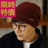 毛帽-流行時尚正韓針織羊毛男帽子3色62e88【巴黎精品】