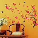 壁貼梅花與鵲 客廳餐廳臥室教室裝潢佈置牆...