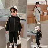 棉小班兒童套裝男童秋裝字母印花寶寶運動兩件套立領休閒男孩童裝 蘇菲小店
