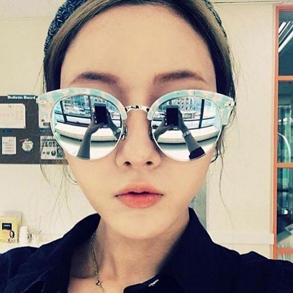 NINE ACCORD 水銀太陽眼鏡 CARDINAL-CO C03 (珍珠藍-銀) 韓系眉框款 藍水銀款 # 金橘眼鏡