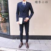 小西裝男套裝雙排扣西服外套