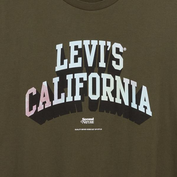 Levis 男款 短袖T恤 / 漸層 Logo / 墨綠