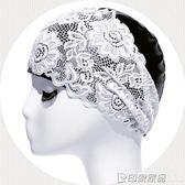 飛魚游泳帽泳帽女長發成人防水加大不勒頭韓國時尚護耳大碼PU蕾絲  印象家品旗艦店