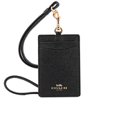 【COACH】LOGO馬車防刮皮革證件套票卡夾(黑色) F57311 IMBLK