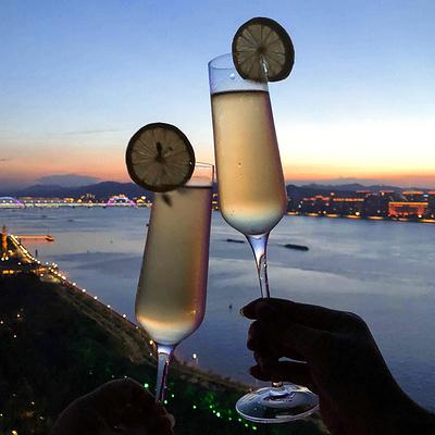 紅酒杯-無鉛水晶香檳杯子套裝高腳甜酒杯葡萄酒杯氣泡杯雞尾酒杯2支 【快速出貨】