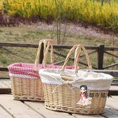 野餐籃 郊游野餐小籃子踏青野炊踏春ins網紅野餐用品編織籃面包菜T