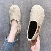 豆豆鞋 加絨豆豆鞋女毛毛鞋2021春新款外穿網紅一腳蹬時尚百搭孕婦棉鞋【快速出貨八折鉅惠】