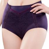 思薇爾-撩波系列M-XXL蕾絲高腰三角修飾褲(皇家紫)