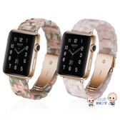 錶帶 適用于蘋果智慧手錶錶帶代新款樹脂腕帶i 0/男女替換帶T 6色 雙12提前購