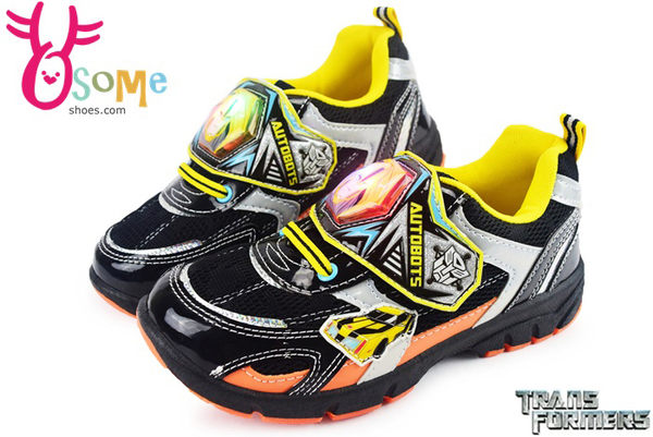 變形金剛 男童鞋 電燈鞋 台灣製 透氣運動鞋J7554#黑◆OSOME奧森童鞋/小朋友