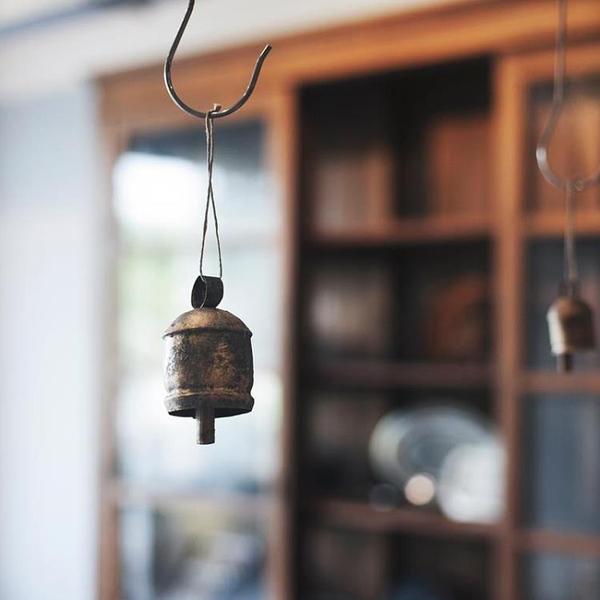 日本Fog linen work手工日式風鈴掛飾臥室陽臺復古金屬鈴鐺掛件小