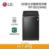 【送基本安裝+現金再低+24期0利率】LG 樂金 21公斤 DD直立式變頻洗衣機 極光黑 WT-SD219HBG