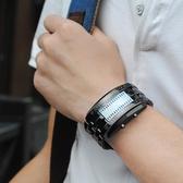 手錶男學生創意個性韓國潮流炫酷無指針青少年防水led電子表YJT 交換禮物