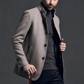毛呢大衣-商務時尚休閒保暖短款男外套72e40【巴黎精品】