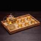 茶臺長方形木托盤竹制大小號茶海家用日式竹茶托簡約實木茶具茶盤 -好家驛站