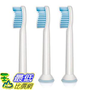 [106美國直購] Philips HX6053/64 原廠 替換牙刷頭3入 Sonicare Sensitive replacement toothbrush heads