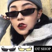 OT SHOP太陽眼鏡‧歐美韓系復古小方框網美明星街拍抗UV400鼻墊加高墨鏡‧現貨兩色‧U60