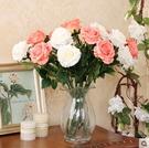 F0661 仿真玫瑰花 玫瑰假花絹花客廳...