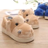 秋冬季居家用可愛男女情侶毛棉拖鞋包跟保暖室內家居加厚底帶後跟   koko時裝店