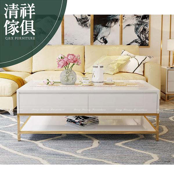 【新竹清祥傢俱】PLT-34LT14 -現代輕奢不銹鋼鈦金茶几 輕奢 客廳 茶几 現代 設計 收納茶几