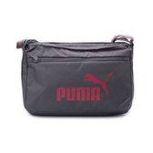 PUMA 雙色織帶側背包 灰桃 076217-05