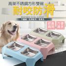 高架不銹鋼方形雙碗 飼料碗 水碗 寵物碗...